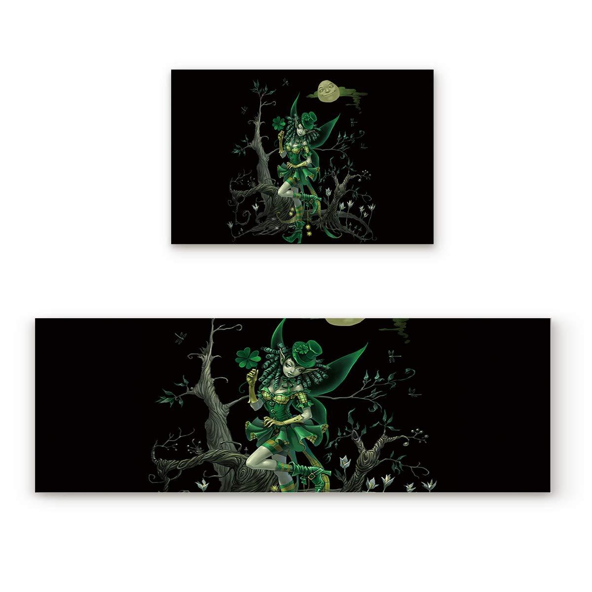 St. Patrick's Day3229LFIY3298 23.6x35.4In+23.6x70.9In Findamy Non-Slip Indoor Door Mat Entrance Rug Rectangle Absorbent Moisture Floor Carpet for St. Patrick's Day Theme Doormat 23.6x35.4In+23.6x70.9In