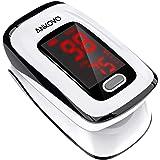 ANKOVO Oxímetro de pulso para dedos con frecuencia del pulso y nivel de SPO2 (incluidas las baterías y la correa para el…