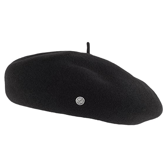 Laulhère Hats Eva Merino Wool Beret - Black 1-Size  Amazon.co.uk ... d82f77f298f