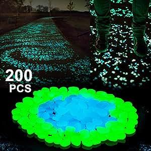 Boomile glow in the dark garden pebbles for walkways outdoor decor aquarium fish for Glow in the dark garden pebbles