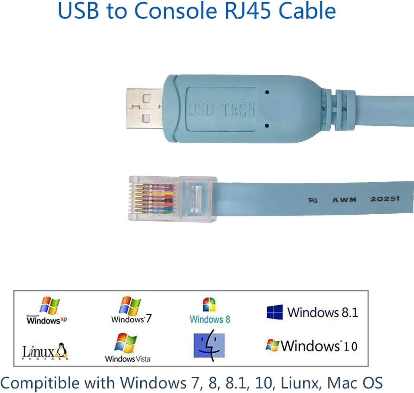 6. Sostituzione FTDI USB-Cavo console Cisco Compatibile-a RJ45-1.8M