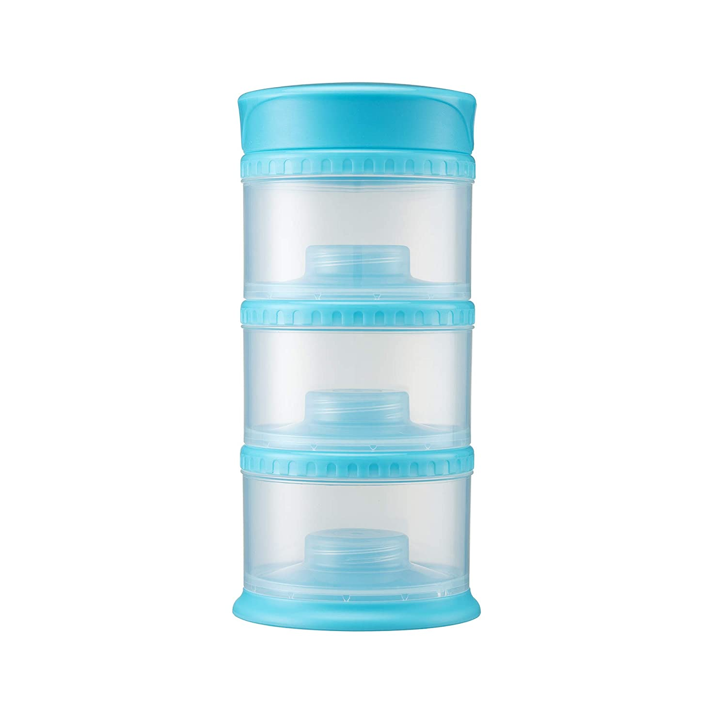 Innobaby Packin' Smart Stackable and Portable Storage System for Formula, Liquid, Baby Snacks and More. 3 Stackable Cups in Blueberry. BPA Free, 12 Ounce
