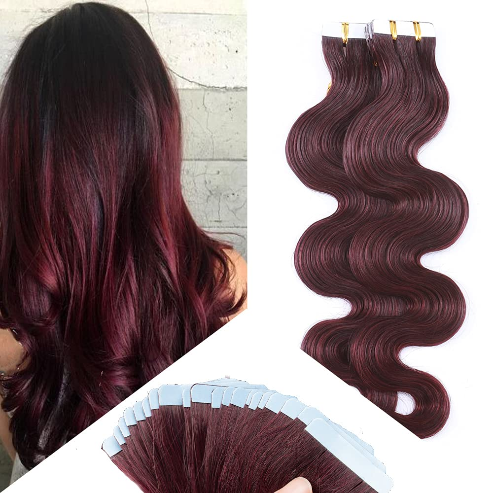 Bombing free shipping Hairro Tape in Hair Extensions Human Long 20 Wave Body Inch 40% OFF Cheap Sale