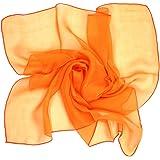 シルク 100% スカーフ 小さめ 【 SSサイズ 】 65×65cm バンダナ バッグ ネッカチーフ ポケット チーフ 首もと 暖か 選べる35色 絹 UV 防寒 シフォン 天然素材 [Instyle Japan]