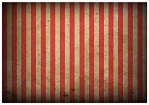 Allenjoy 7x5ft Evil Halloween Circus Carnival Backdrop for Festival Red and White Stripes Yellowing Bloody Splatter Party Decor Horrorible Prom Portrait Photography Background Photobooth Studio Props
