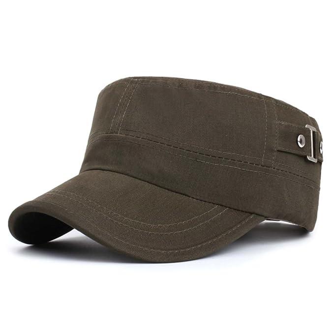 sombrero de los hombres/ versión coreana otoño casquillos planos/Gorra militar/Mujer de la tapa de ocio al aire libre/ sombrero del sol de otoño/ Gorras de ...