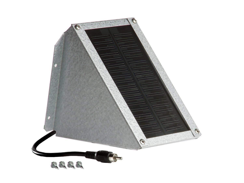 Sweeney Feeders Solar Charger for Scatter Feeders - 1 Watt, Galvalume by Sweeney Feeders