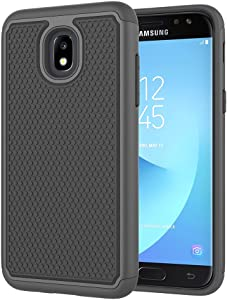 Galaxy J3 2018 Case,Galaxy J3 Star Case,J3 Achieve Case,Galaxy Express/Amp Prime 3 Case,Galaxy J3 V 3rd Gen/J3 Orbit/J3 Aura/Sol 3 Case,Asmart Defender Cover Phone Case for Samsung Galaxy J3V,Black