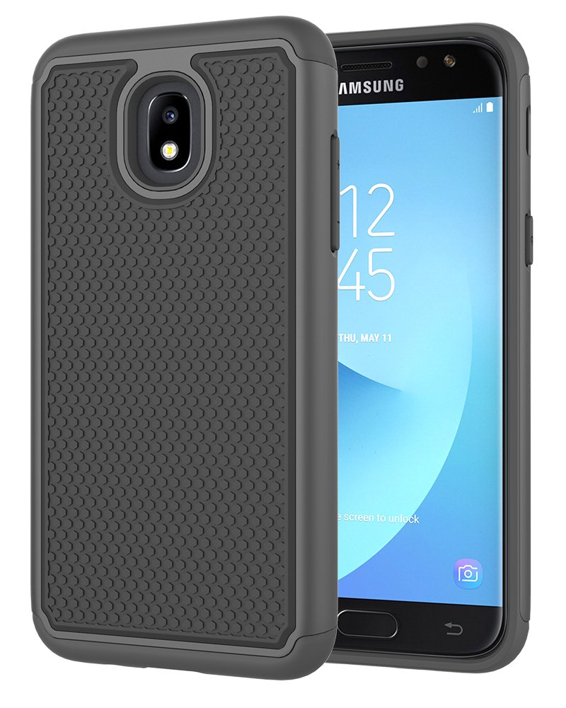 Galaxy J7 2018 Case,Galaxy J7 Refine Case,Galaxy J7 Star Case,Galaxy J7 Crown Case,Galaxy J7 V 2nd Gen Case,J7 Aura Case,Asmart Defender Cover Protective Phone Case for Samsung Galaxy J7V 2018,Black