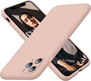 Cordking iPhone 11 Pro Max Case for Women, Silicone Ultra Slim Shockproof Phone Case with Soft Anti-Scratch Microfiber Lining, [Enhanced Camera Protection], 6.5 inch, Pinksand