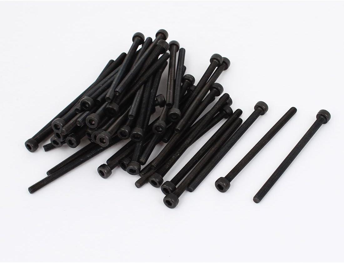 uxcellM3 x 50 Alloy Steel Hex Bolt Socket Head Cap Machine Screw Black 50Pcs