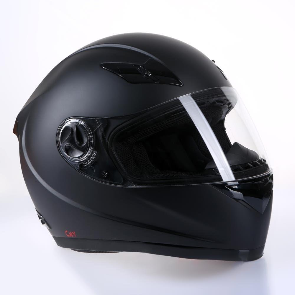 CMX Casque moto Casque intégral blacky noir mat avec rechange-Visière Teintée S