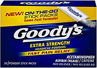 product image for Goody's Headache Powders, Extra Strength, 50-Count Boxes (Pack of 4)