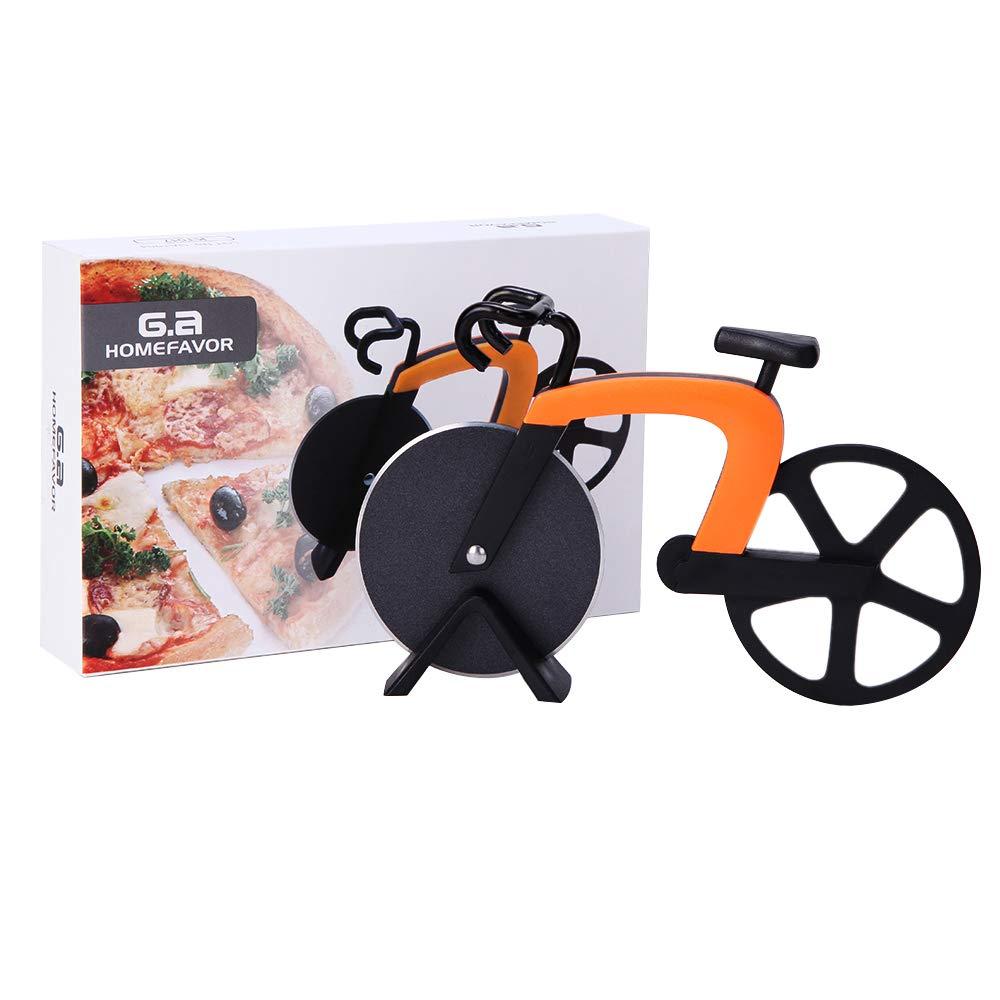 G.a HOMEFAVOR Pizza Cutter Pizza Slicer Wheel Cute Design With Kickstand