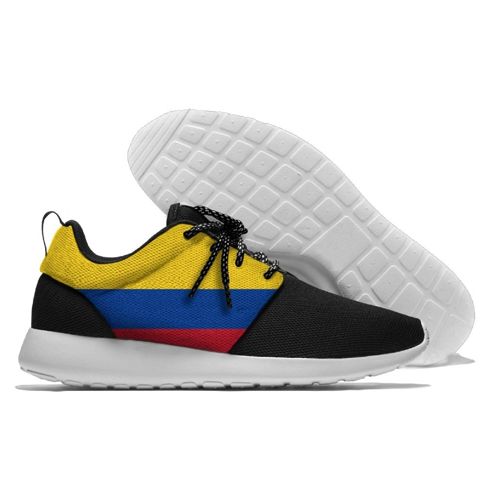 Flag Of Colombia Unisex Running Shoes Sport Shoes Lightweight Sneakers Men's Mesh Breathable Athletic Walking Shoes B07B7DKNV5 40 Black