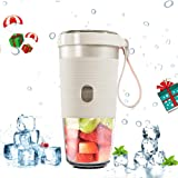 Portable Blender Mini Juicer Smoothie Mixer with USB Charging Electric Shaker for Travel Outdoor Home Office (Pure White