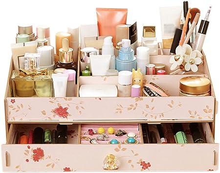 De madera cajas de almacenaje, cajas de cosméticos Large DIY caja para maquillaje suministros joyería, madera, Colorful #2, 36.5*23.2*13.2cm: Amazon.es: Hogar