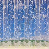 Butterflies Net Curtain 72 Drop sold by the meter by Tonys Textiles