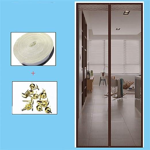 LANDP Sin perforacionesmosquitera Puerta Velcro Diseño silencioso Malla encriptadaVentana de Pantalla mosquitera para Ventana Cierre magnético automático LavableAnti-Mosquito: Amazon.es: Hogar