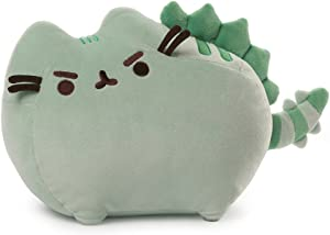GUND Pusheen Pusheenosaurus Plush Stuffed Animal Dinosaur Cat, Green, 13""
