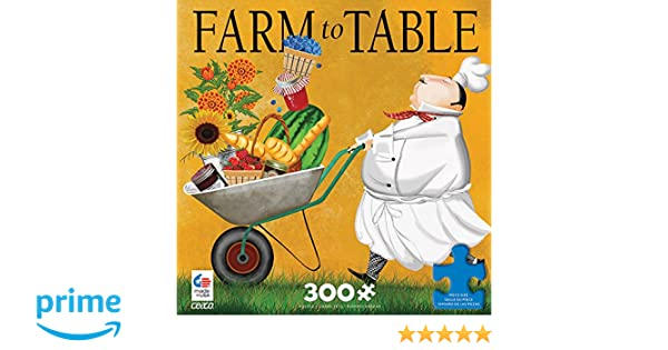 CEACO BON APPETIT PUZZLE FARM TO TABLE TRACY FLICKINGER 300 PCS #2226-7