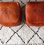 Cheap Moroccan Square Leather Poufs / Ottomans