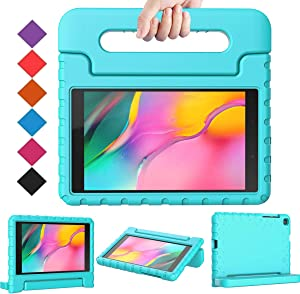 "BMOUO for Samsung Galaxy Tab A 8.0 2019 Case SM-T290/T295, Galaxy Tab A 8.0 Case 2019, Shockproof Light Weight Protective Handle Stand Kids Case for Galaxy Tab A 8.0"" 2019 Without S Pen - Turquoise"