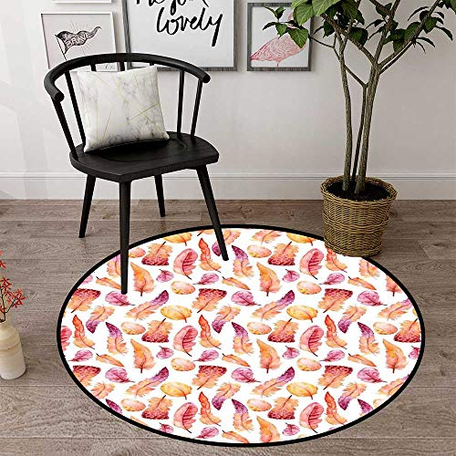 (Circle mat for Crawling Babies Round Indoor Floor mat Entrance Circle Floor mat for Office Chair Wood Floor Circle Floor mat Office Round mat for Living Room Pattern 1'8