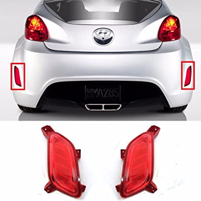 HYUNDAI Rear Bumper Reflex Reflector Set LH RH 2011- Veloster OEM Parts: Automotive