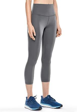 CRZ YOGA Women's Matte High Waisted Leggings Capri Yoga Pants Tummy Control -21 Inches