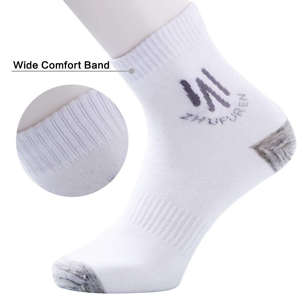Mens Crew Socks,4 Pack Bamboo Ankle Socks,Moisture Wicking,Seamless Toe,Anti Odor,Quality Athletic or Work Socks