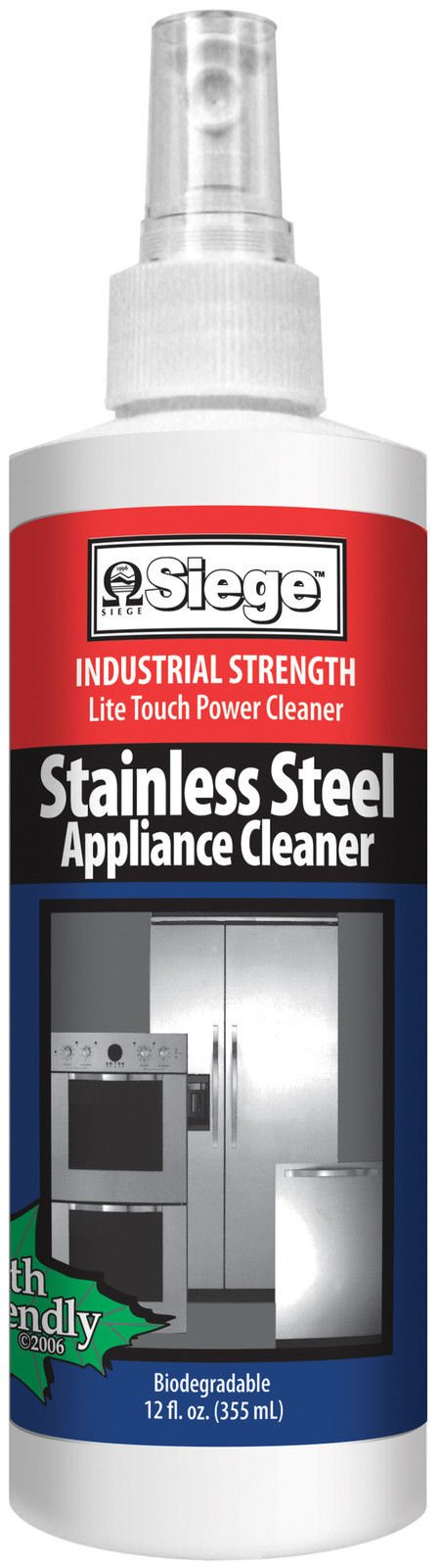 Siege Stainless Steel Appliance Cleaner 12 fl oz by HIC Harold Import Co.