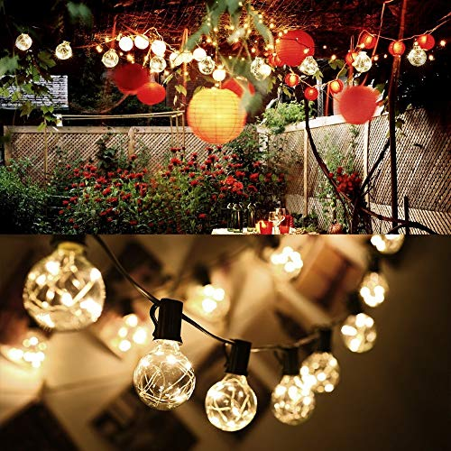 Lumiereholic LED String Light Bulbs Indoor Outdoor Globe String Lights Ball Shaped Decorative Bulb Starry for Party Christmas Home Garden Wedding Bar Halloween Festival Decoration Light (Warm Yellow)