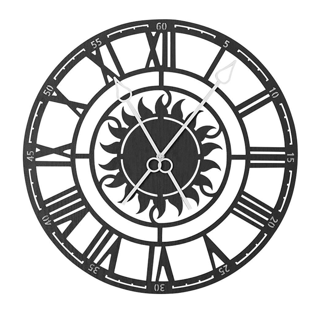 LPYMX,Reloj de Pared Colgar Mesa Romana Reloj Digital Europeo Industrial Retro Creativo Reloj de Pared Decoración del hogar: Amazon.es: Hogar