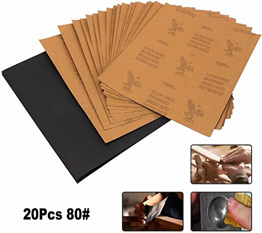 Dry and Wet Waterproof Sandpaper Grits for Wood Furniture Automotive Sanding and Home Improvement Abrasive Sandpaper
