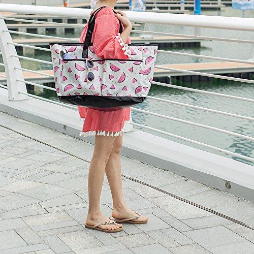Viva Terry Large Waterproof Beach Travel Tote bag Handbag Organizers- Watermelon by Viva Terry (Image #5)