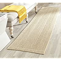 Safavieh Palm Beach Collection PAB322A Desert Sand Sisal & Jute Runner (2 x 8)