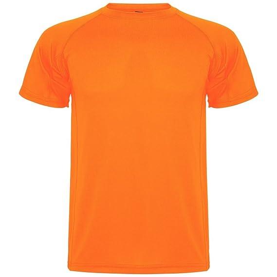 Roly Camiseta técnica para niños Montecarlo, Naranja Fluorescente: Amazon.es: Ropa y accesorios