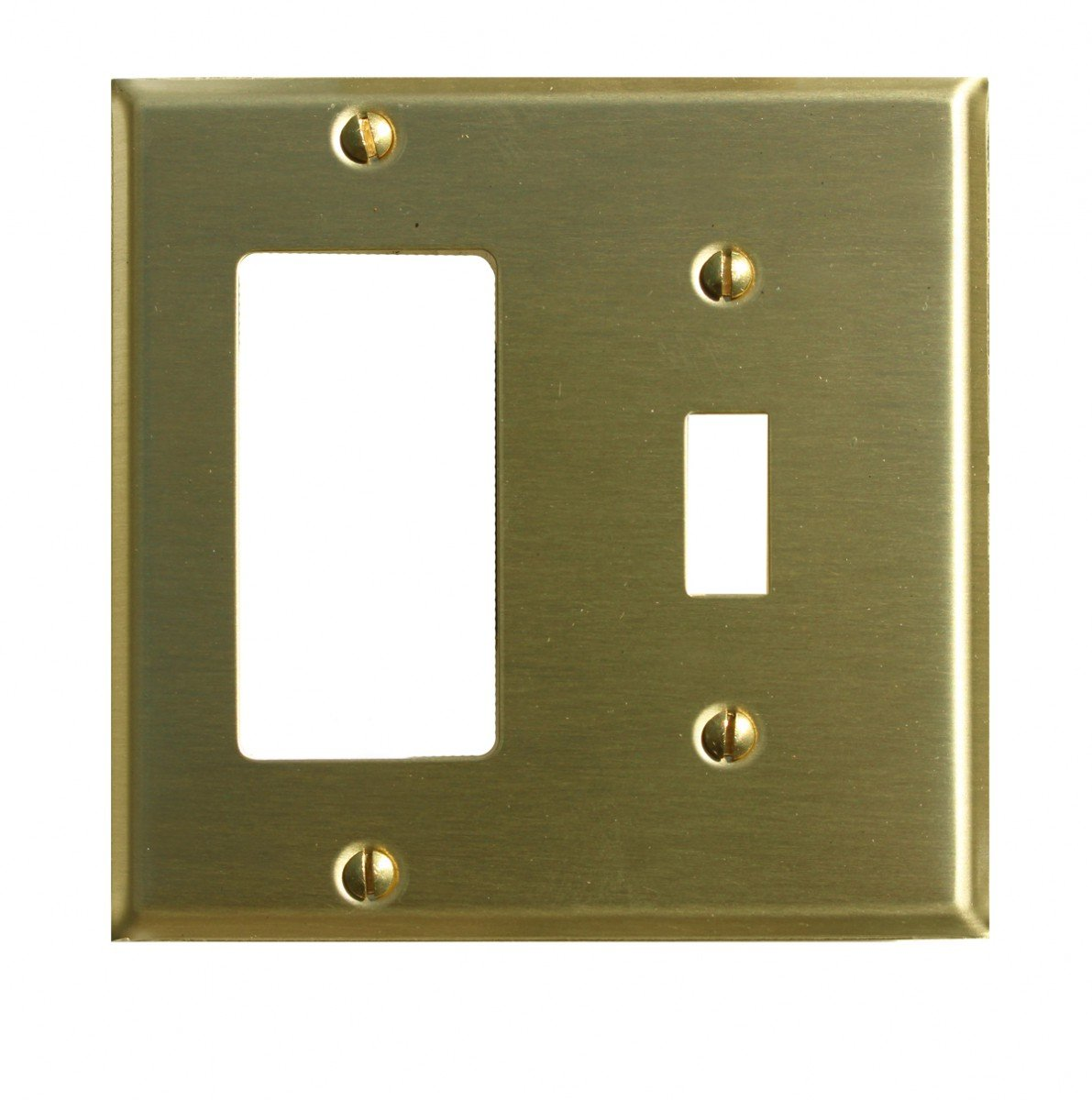 Switchplates Brushed Brass GFI Toggle Switch Plate
