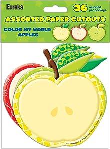 Eureka Color My World Apples Asst. Paper Cut Outs (841000)