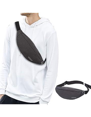 e5b75334f32 Fanny Pack for Men Women with Headphone Jack and 3-Zipper Pockets Super  Lightweight Adjustable