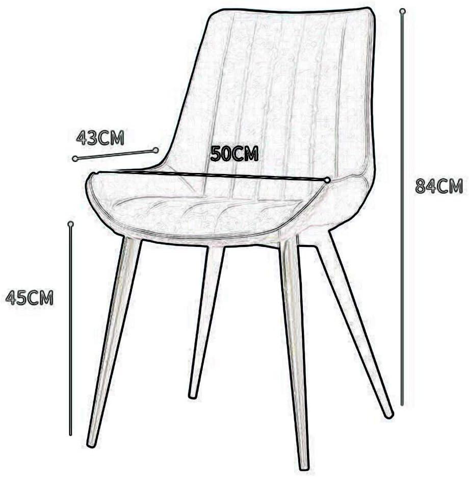 Sillas CJC Comedor Mueble Piernas De Metal Cuero De PU Diseño Elegante Cocina Casa Sala De Estar (Color : T6) T10