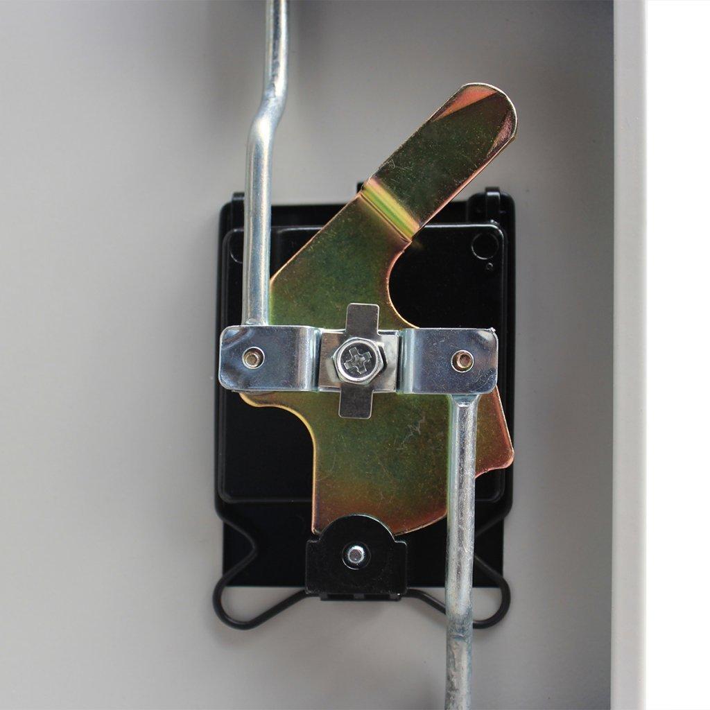Festnight Metallschrank Büroschrank Aktenschrank Aktenschrank Aktenschrank Stahlschrank Büro Universalschrank mit 2 Türen 90 cm Grau 34b6c4