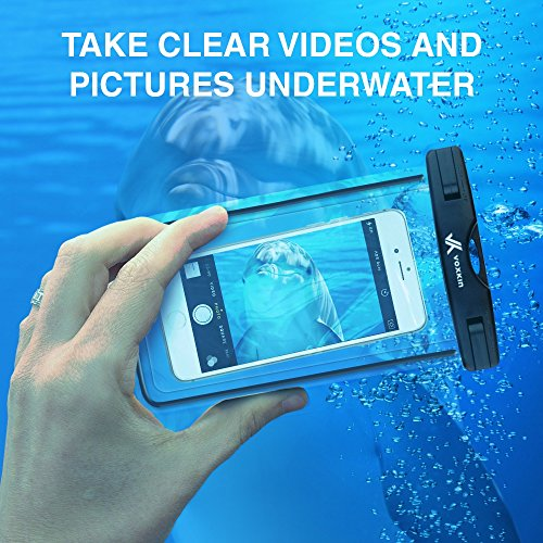 ⚡ [ Premium Quality ] Universal Waterproof Phone Holder with ARM Band & Lanyard - Best Grade Water Proof, Dustproof, Snowproof & Shockproof Pouch Bag Case for Apple iPhone, Android and All Smartphone by VK Voxkin (Image #6)