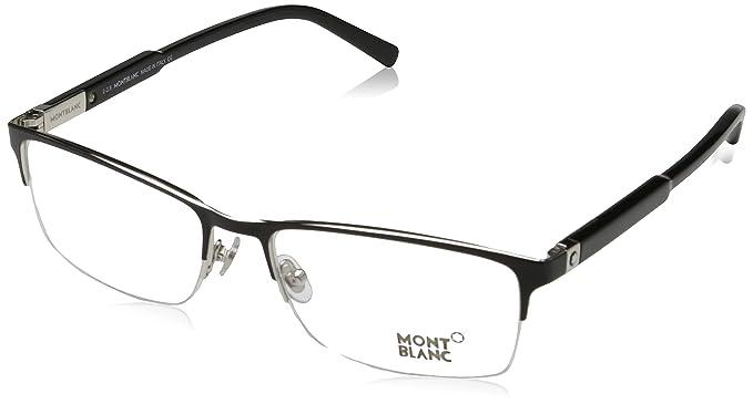 Amazon.com: anteojos Montblanc MB 636 MB 0636 001 negro ...