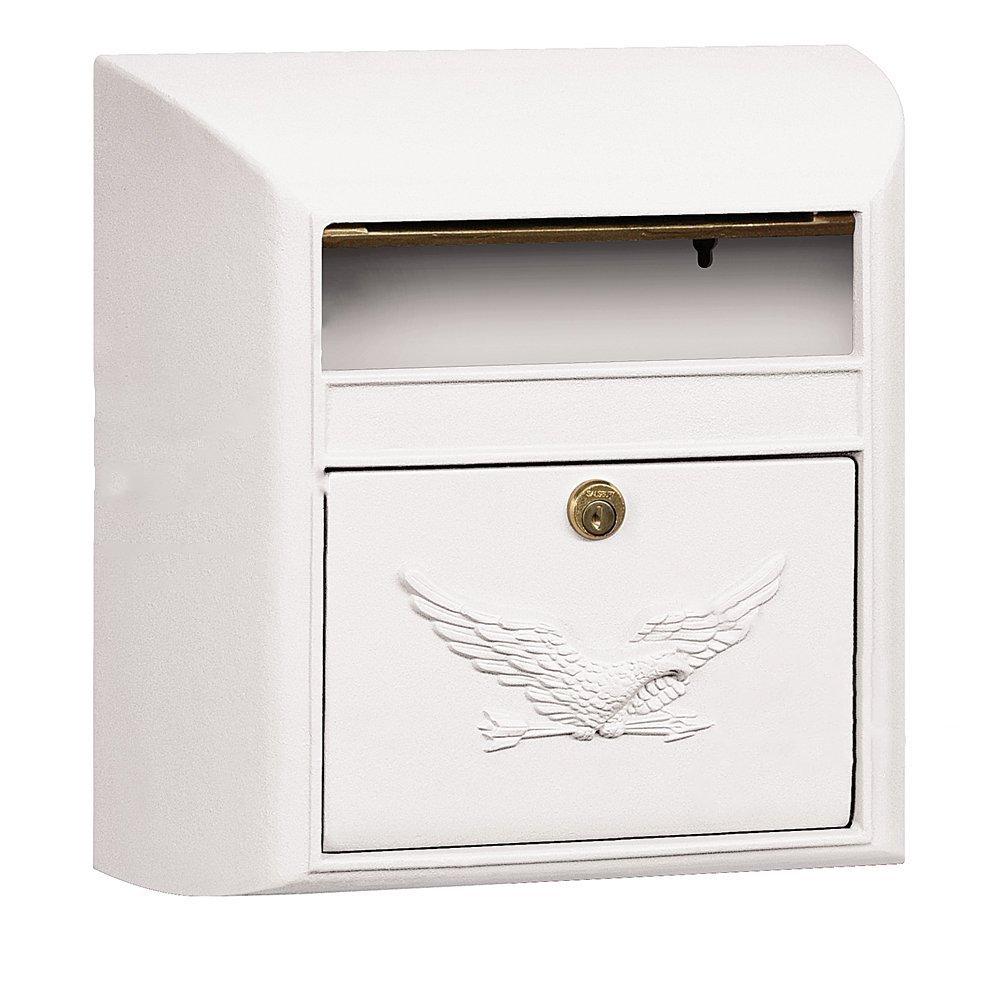 【アメリカ直送】Salsbury Industries Eagle サルスベリーインダストリーイーグル オリジナル Modernメールボックス   (ホワイト) B07DLTG5GM 14300 ホワイト ホワイト