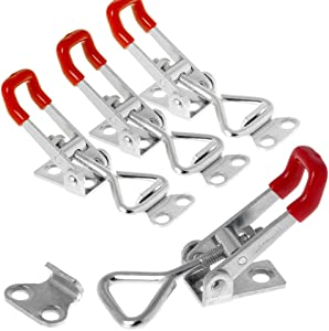 E-TING 4PCS 90Kg 198Lbs Capacity Triangle Shaped Lever 4001 Latch Pull-Action Latch Toggle Clamp