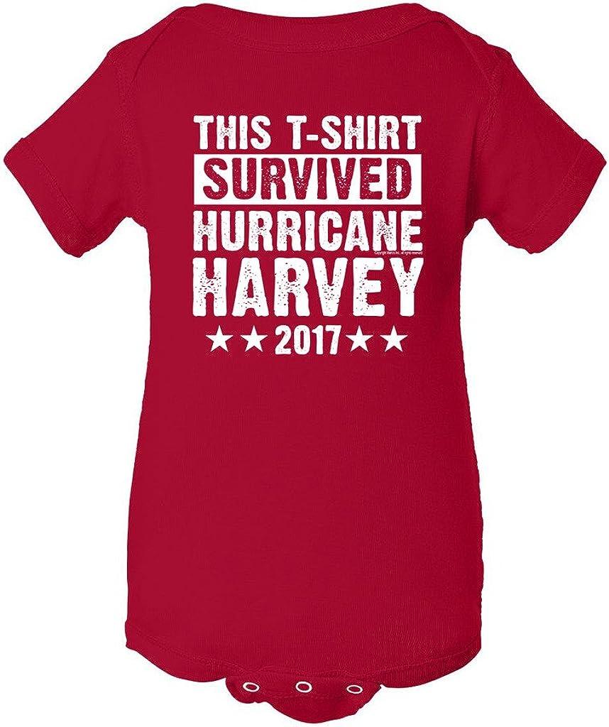 This T-Shirt Survived Hurricane Harvey Houston Texas 2017 DT Infant Baby Rib Bodysuit