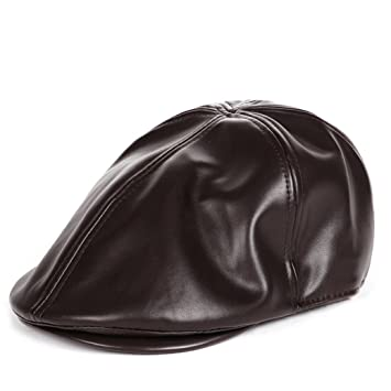 1eca8b6c8e69 Men's Gatsby Flat Cap, Hot Sale! Iuhan Unique Leather Flat Cap Irish  newsboy IVY