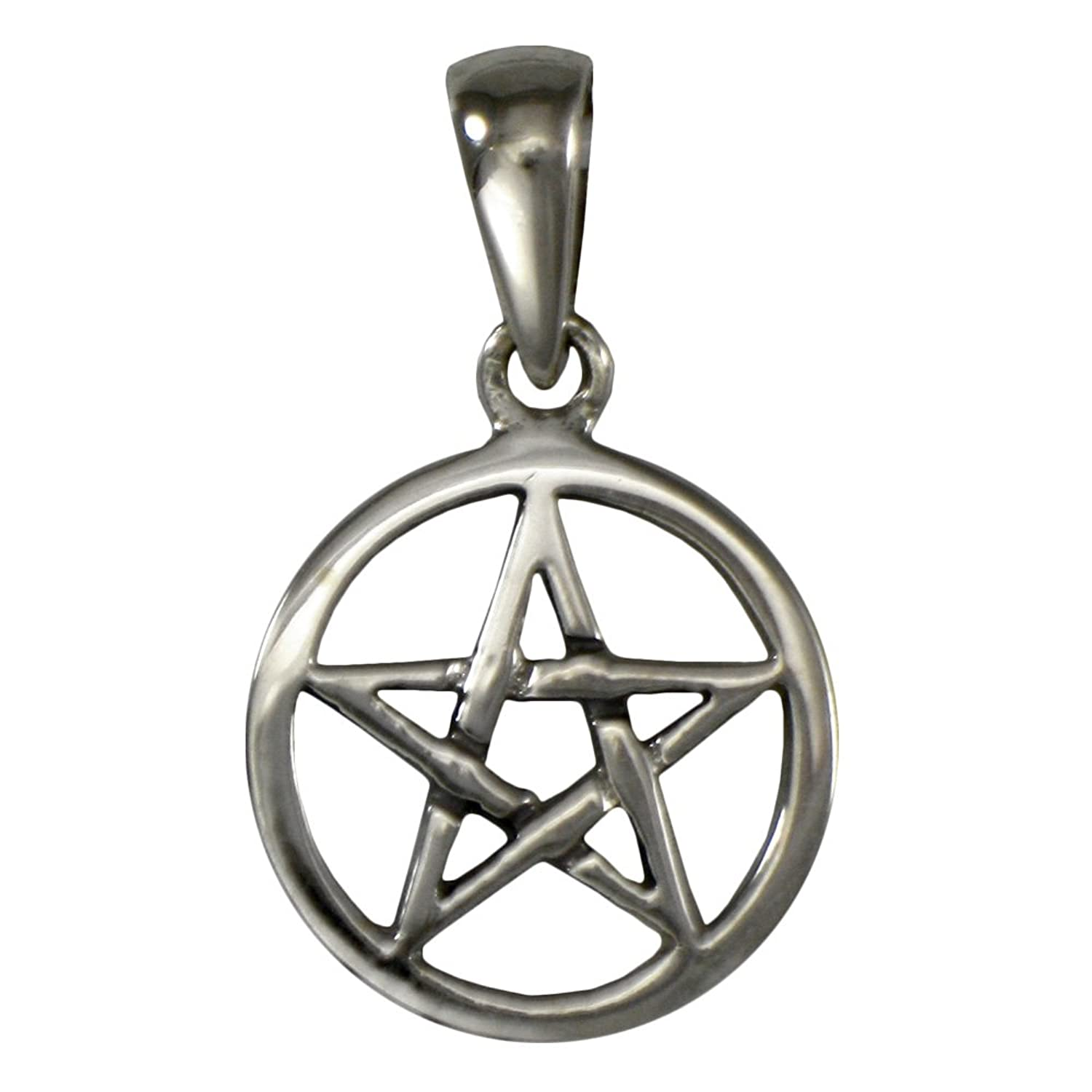 Amazon sterling silver small pentagram pentacle pendant jewelry aloadofball Images
